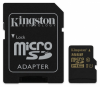 Карта памяти Kingston microSDHC 16Gb Class 10 UHS-I + SD адаптер (SDCA10/16Gb)