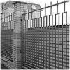 The metal fence. Forged fence.