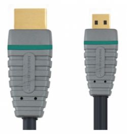 Кабель HDMI 2m BANDRIDGE BLUE BVL1702 HDMI Micro High Speed