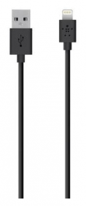 Кабель BELKIN USB 2.0 Lightning charge/sync cable 1.2м, Black (F8J023bt04-BLK)