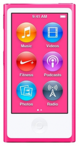 Плеер Apple iPod nano 16Gb Pink (MKMV2QB/A)