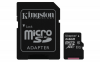 Карта памяти KINGSTON 64GB microSDXC Cl 10 UHS-I + adapter