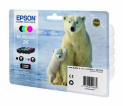 Картридж Epson 26 XP600/605/700 Bundle (C, M, Y, Bk) (C13T26164010)