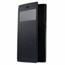 Mobiking Book Cover with Window for Meizu MX5 Black