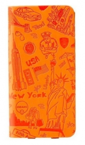 Чехол OZAKI O! Coat Travel New York for iPhone 6 Plus Orange (OC585NY)